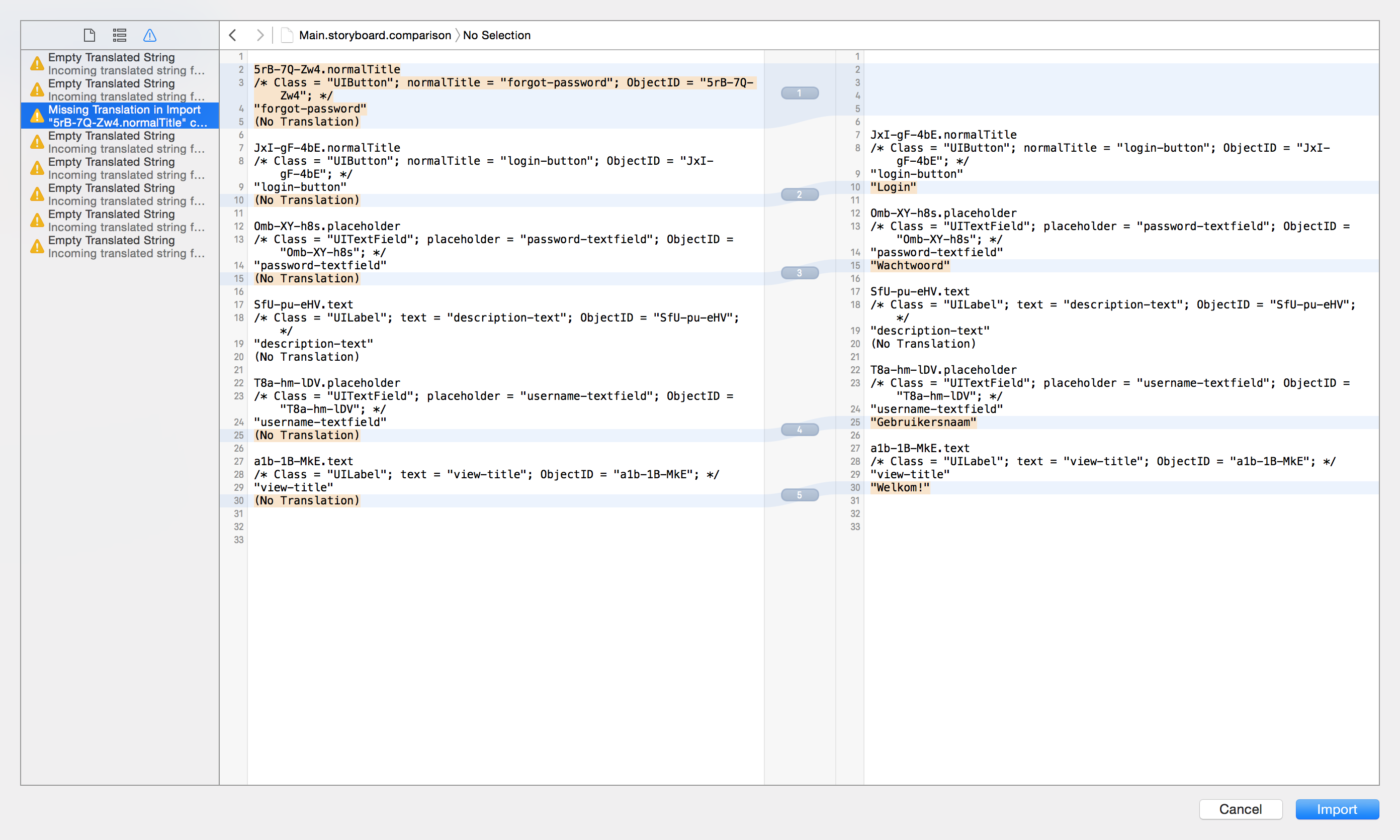 Using XLIFF for localization in Xcode